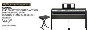 Yamaha 88 Key Weighted Action Digital Piano
