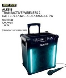 Alexis Transitive Wireless 2 Battery Powered Portable PA
