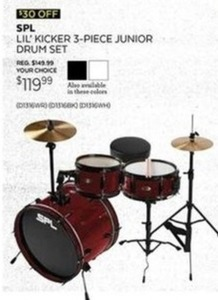 SPL Lil Kicker 3-PC Junior Drum Set