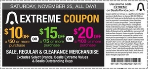 Up to $20 Off Sale, Regular and Clearance Merchandise - Exclusions Apply