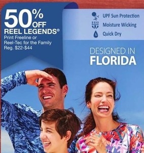 Reel Legends Print Freeline or Reel-Tec For the Family