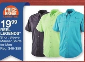 Reel Legends Short Sleeve Mariner Shirts for Men