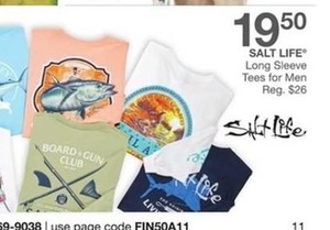 Salt Life Long Sleeve Tees for Men