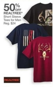 Realtree Short Sleeve Tees For Men