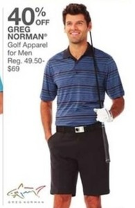Men's Greg Norman Golf Apparel