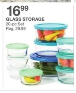 Glass Storage 20pc Set