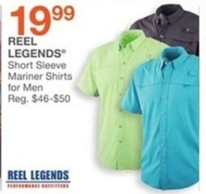 Men's Reel Legends Short Sleeve Mariner Shirts