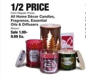 50% Off Home Decor Candles and Oils