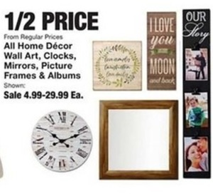 All Home Decor Wall Art, Clocks, Mirrors, Picture Frames & Albums