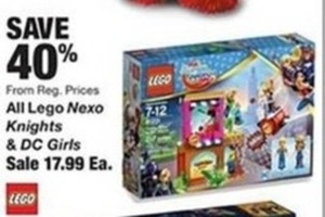 All Lego Nexo Kights & DC Girls
