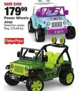 Select Power Wheels Jeep
