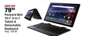 "Packard Bell 10.1"" 2-In-1 Tablet & Detachable Keyboard"