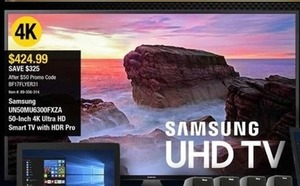 Samsung 50-Inch 4K Ultra HD Smart TV w/ HDR Pro