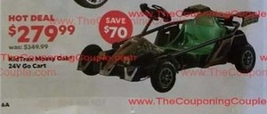 KidTrax Mossy Oak 24V Go Cart