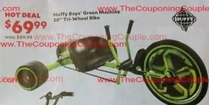 "Huffy Boys' Green Machine 20"" Tri-Wheel Bike"