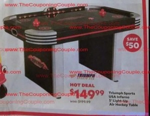 Triumph Sports USA Inferno 5' Light-Up Air Hockey Table