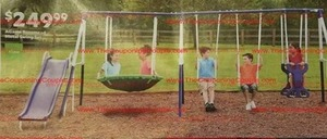 AGame Rosemead Metal Swing Set