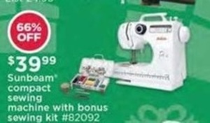 Sunbeam Compact Sewing Machine With Bonus Sewing Kit