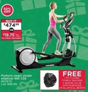 I-Fit Classic Fitness Tracker w/ Purchase of Proform Smart Strider Elliptical