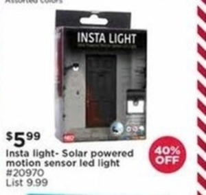 Insta Light Solar Powered Motion Sensor Led Light