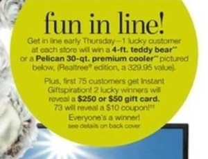 First 75 Customers - 2 Winners Reveal $250 or $50 Gift Card, 73 Reveal $10 Coupon