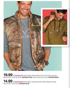 Realtree Reversible Vest