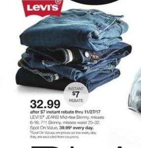 Levis Misses Mid-Rise Skinny Jeans w/ Instant Rebate