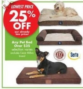 Any Pet Bed Over $25