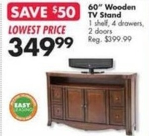 """60"""" Wooden TV Stand"""