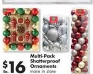 Multi Pack Shatterproof Ornaments