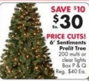 6' Sentiments Prelit Tree