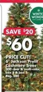 6' Jackson Prelit Cashmere Tree