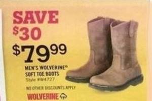 Men's Wolverine Soft Toe Boots