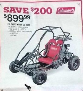 Coleman KT196 Go-Kart