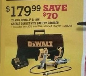 DeWalt 20 Volt Li-Ion Grease Gun Kit