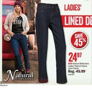 Natural Relfections Ladies' Natural Fleece-Lined Denim