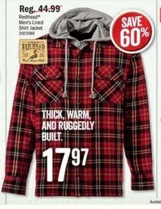 RedHead Men's Lined Shirt Jacket