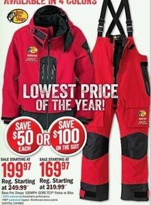 Bass Pro Shops 100 MPH Gore-Tex Suit