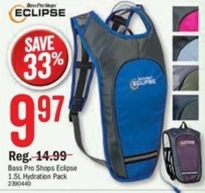 Bass Pro Shops Eclipse 15.L Hydration Pack