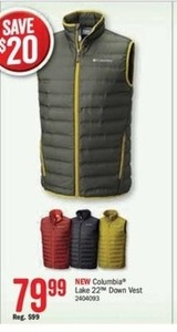 Columbia Lake 22 Down Vest