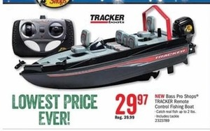 Tracker Remote Control Fishing Boat