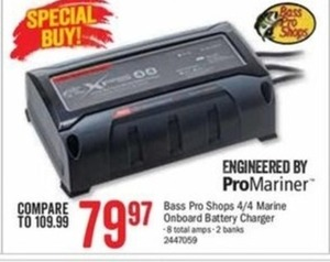 Bass Pro Shops 4/4 Marine Onboard Battery Charger