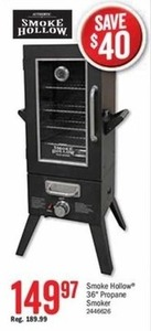 "Smoke Hollow 36"" Propane Smoker"