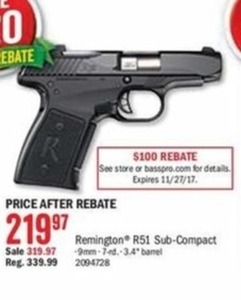 Remington R51 Sub-Compact After Rebate