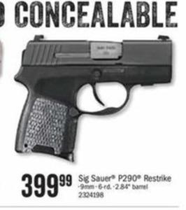 Sig Sauer P290 9mm Gun