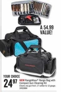 RangeMaxx Range Bag with Compact Gun Cleaning Kit