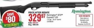 Remington 879 Express HD After Rebate