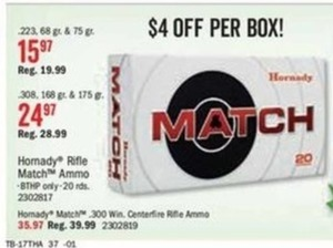 Hornady Rifle Match Ammo