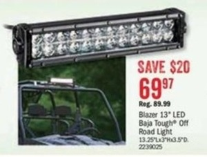"Blazer 13"" LED Baja Tough Off Road Light"