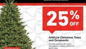 Artificial Christmas Trees and Ornaments